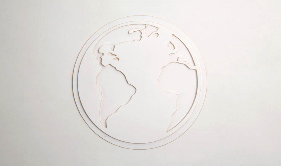 Earth Papercut object